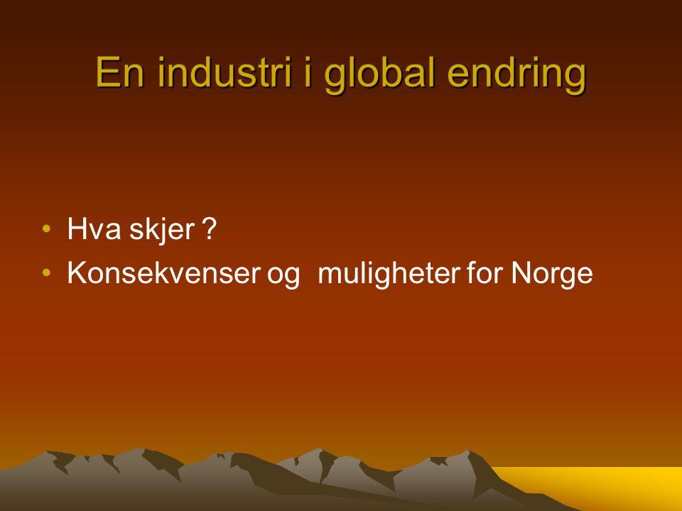 En industri i global endring