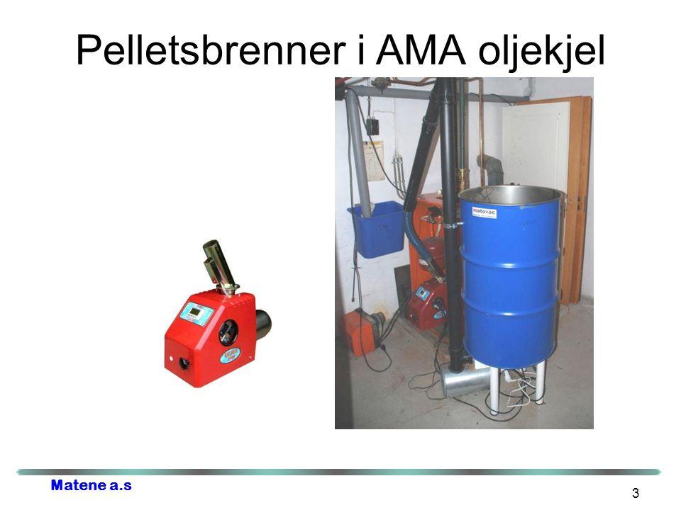 Pelletsbrenner i AMA oljekjel