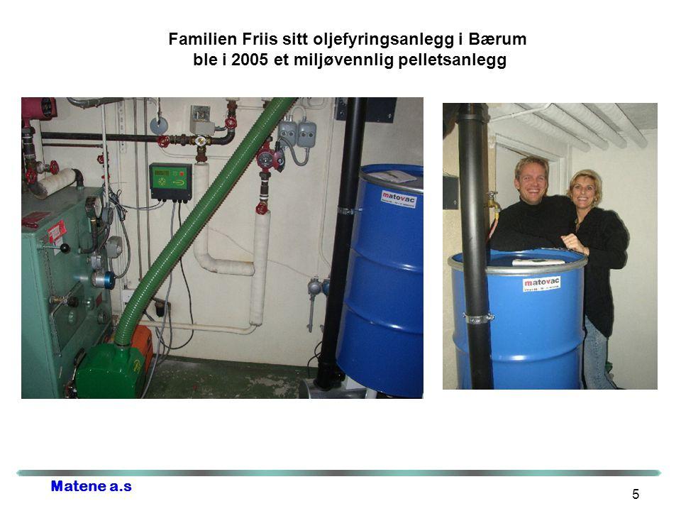 4/4/2017 Familien Friis sitt oljefyringsanlegg i Bærum ble i 2005 et miljøvennlig pelletsanlegg