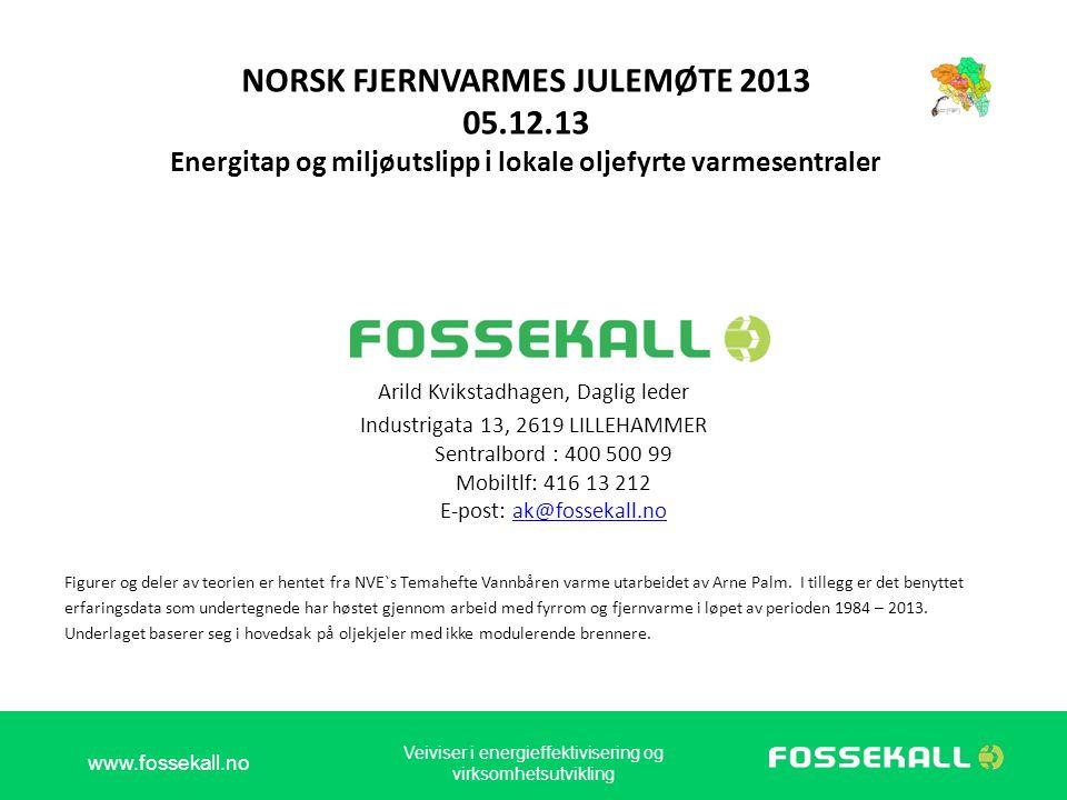 NORSK FJERNVARMES JULEMØTE 2013 05. 12