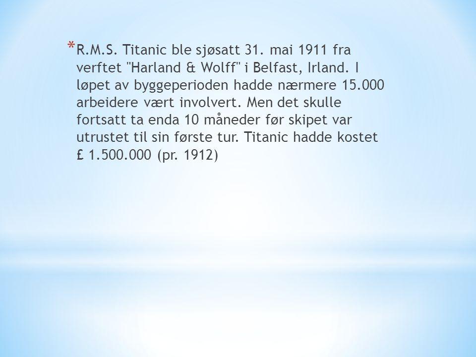 R. M. S. Titanic ble sjøsatt 31