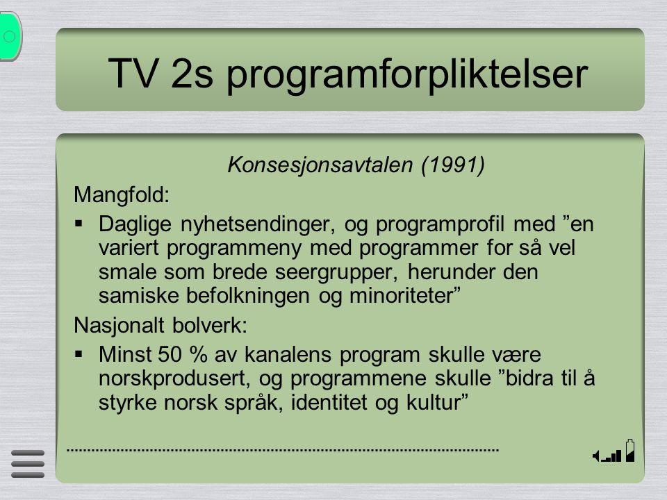 TV 2s programforpliktelser