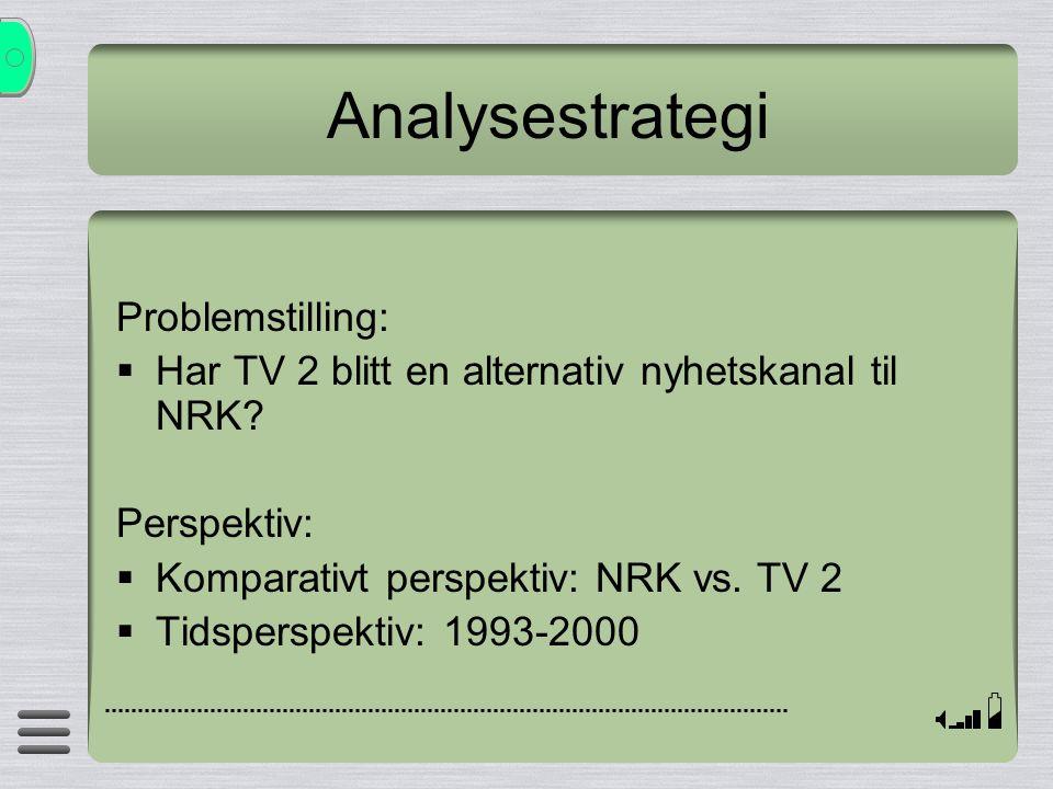 Analysestrategi Problemstilling: