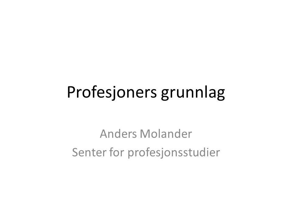Profesjoners grunnlag