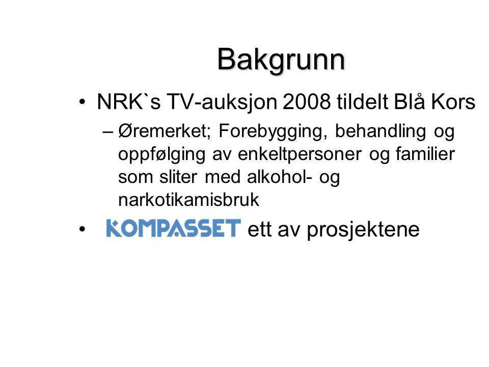 Bakgrunn NRK`s TV-auksjon 2008 tildelt Blå Kors ett av prosjektene