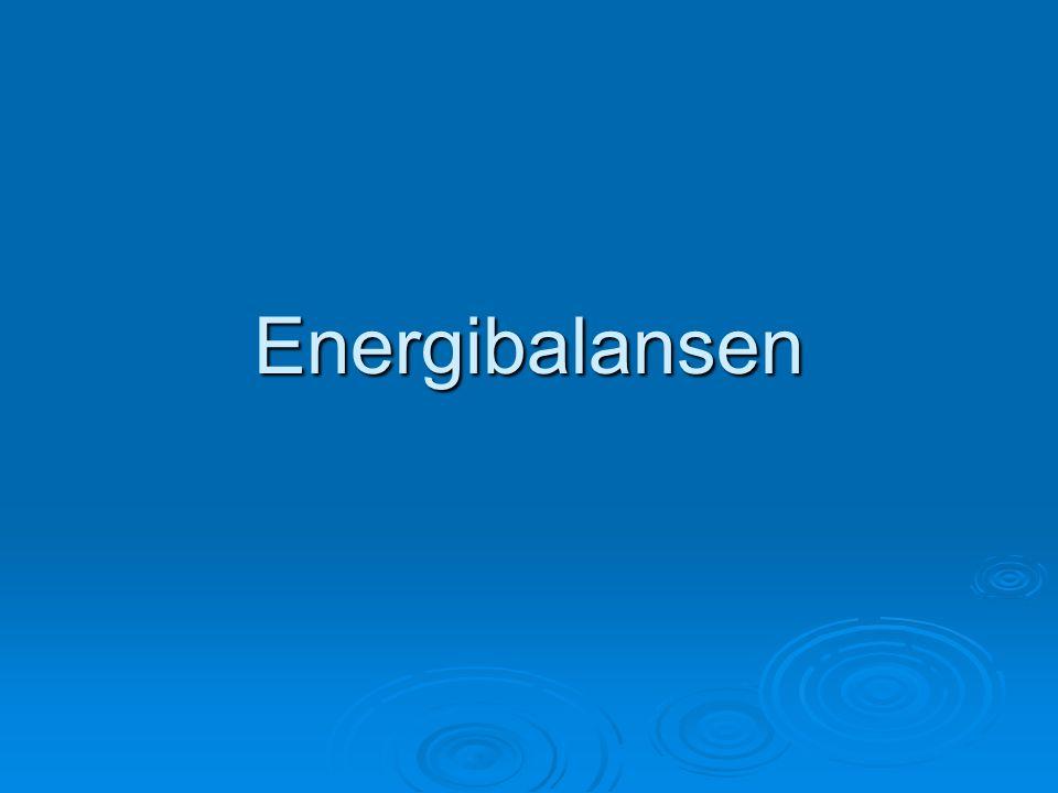 Energibalansen