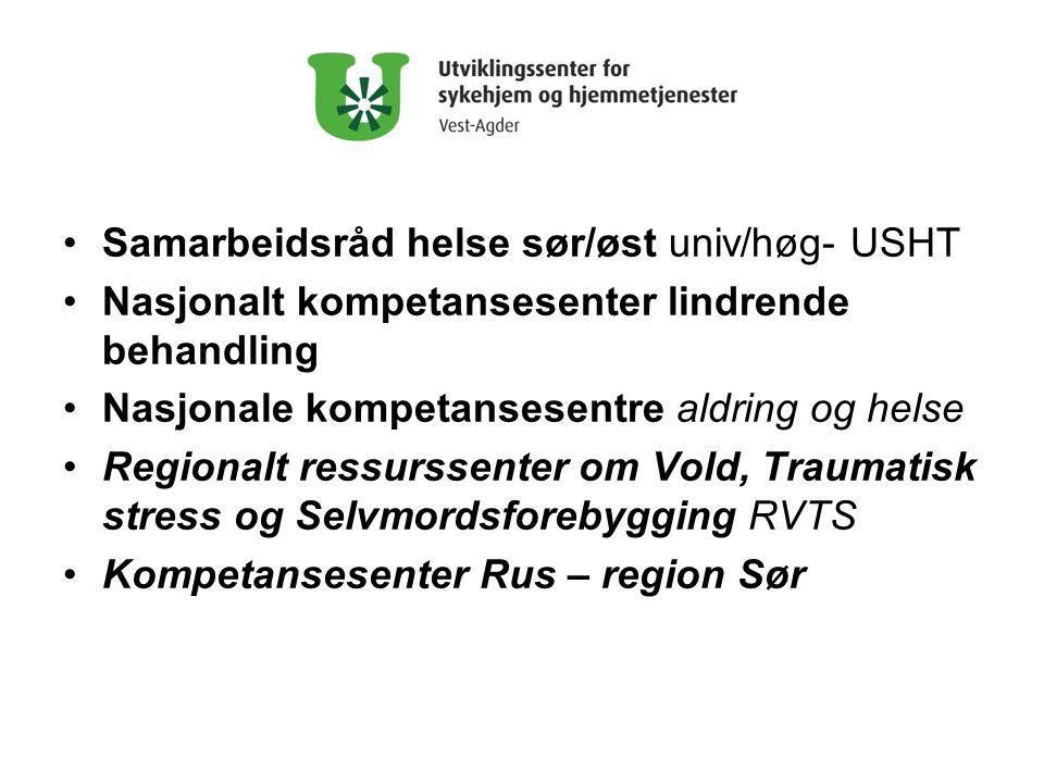 Samarbeidsråd helse sør/øst univ/høg- USHT