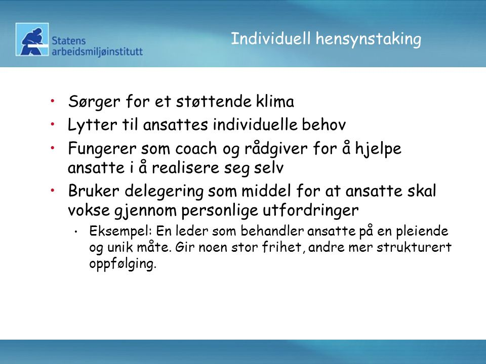 Individuell hensynstaking