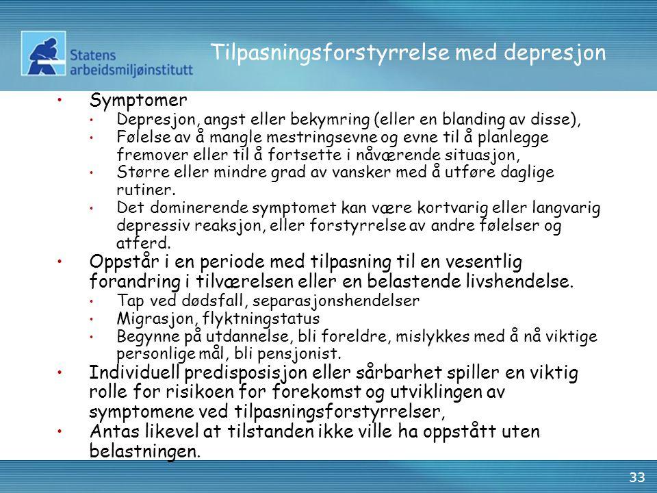 Tilpasningsforstyrrelse med depresjon
