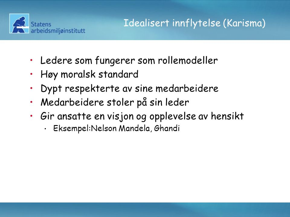 Idealisert innflytelse (Karisma)
