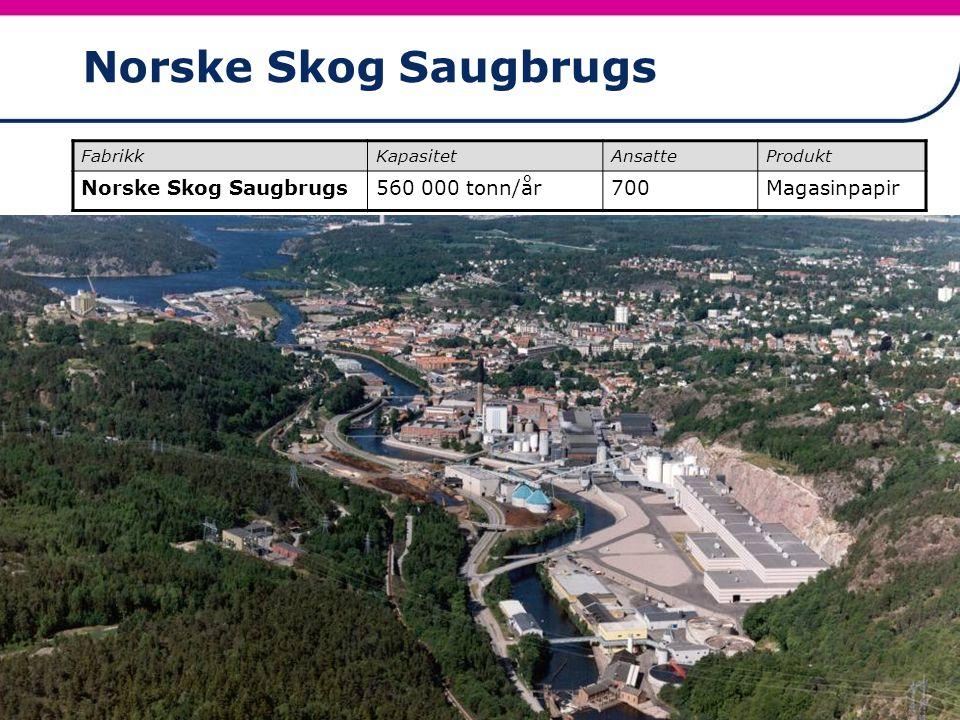 Norske Skog Saugbrugs Norske Skog Saugbrugs 560 000 tonn/år 700