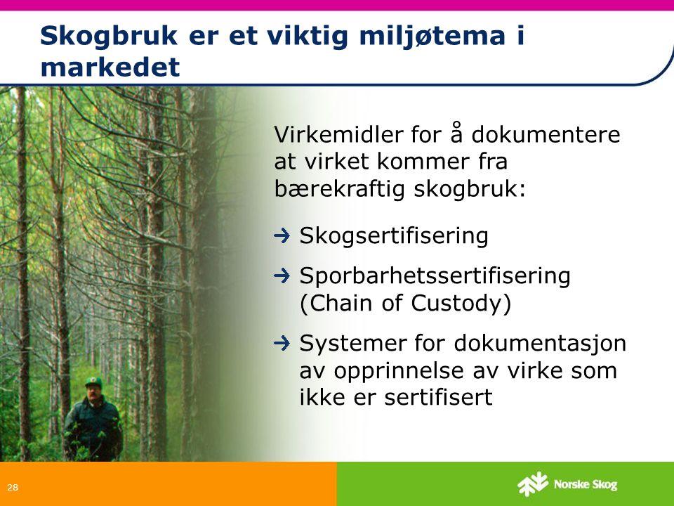 Skogbruk er et viktig miljøtema i markedet