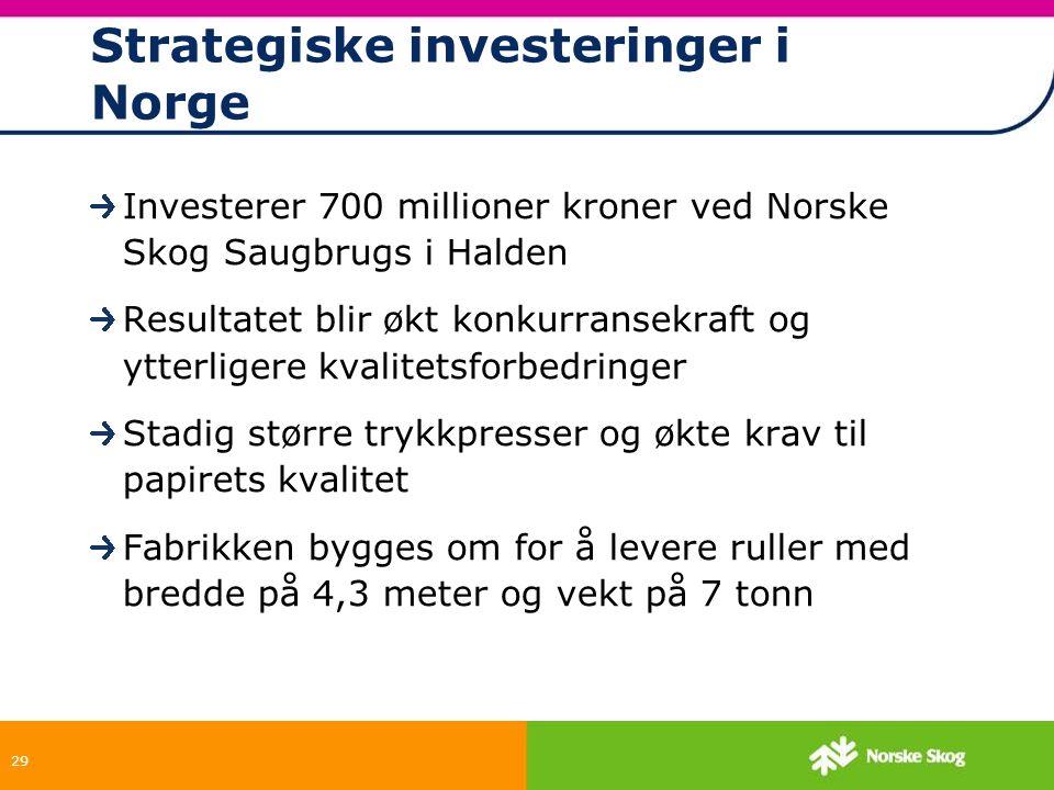 Strategiske investeringer i Norge