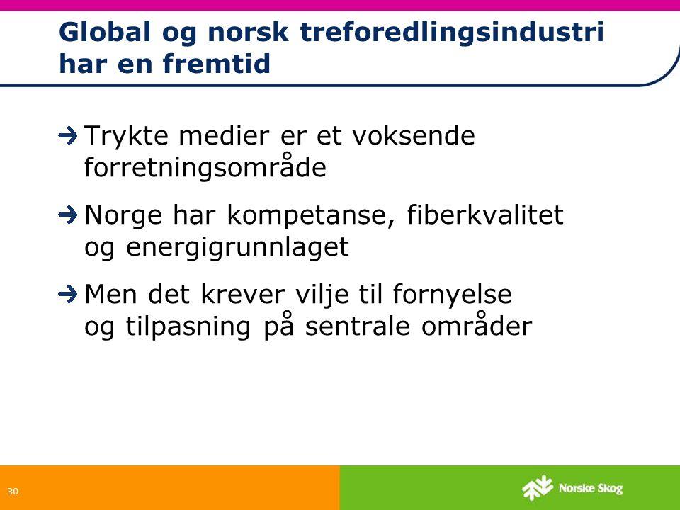 Global og norsk treforedlingsindustri har en fremtid