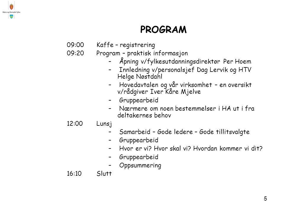 PROGRAM 09:00 Kaffe – registrering