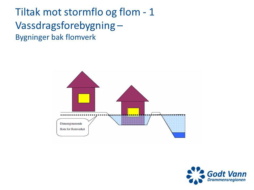 Tiltak mot stormflo og flom - 1 Vassdragsforebygning – Bygninger bak flomverk