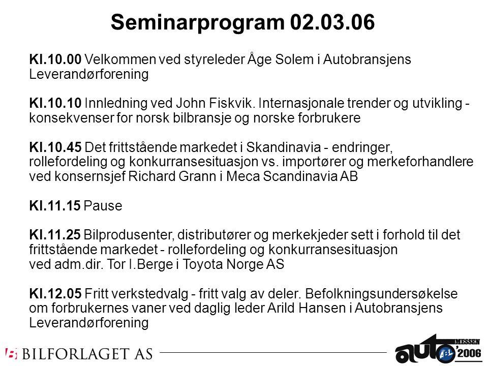 Seminarprogram 02.03.06