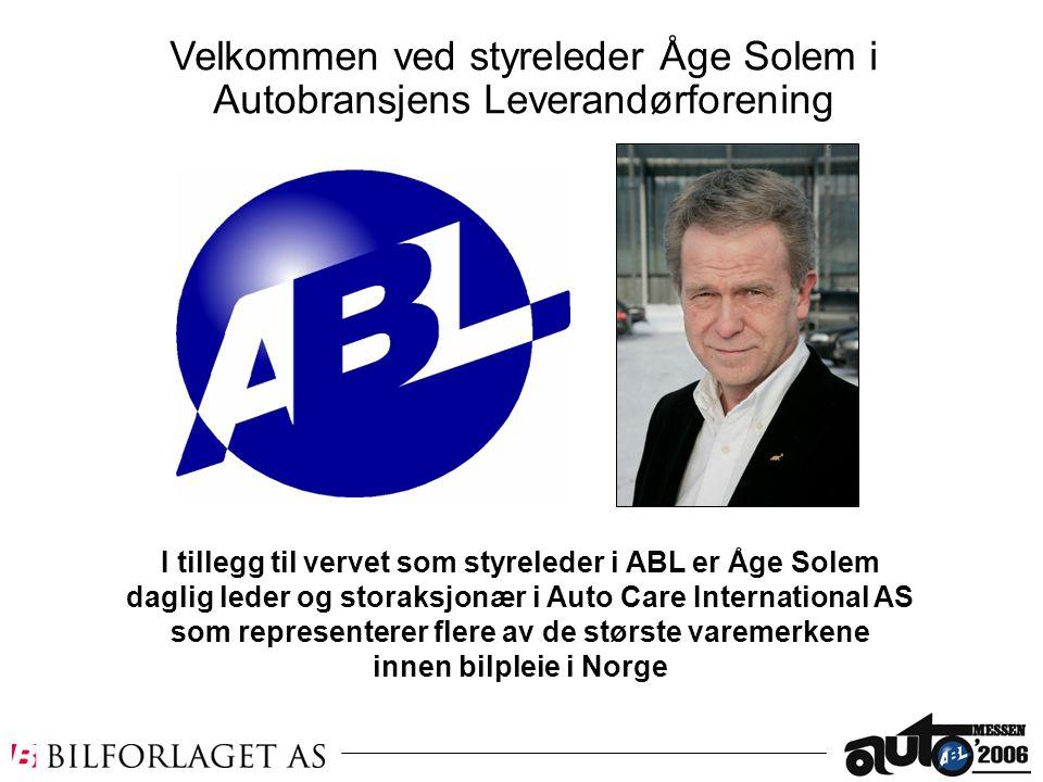 Velkommen ved styreleder Åge Solem i Autobransjens Leverandørforening