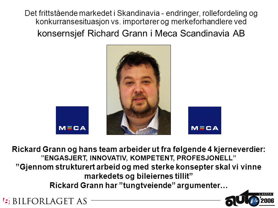 konsernsjef Richard Grann i Meca Scandinavia AB