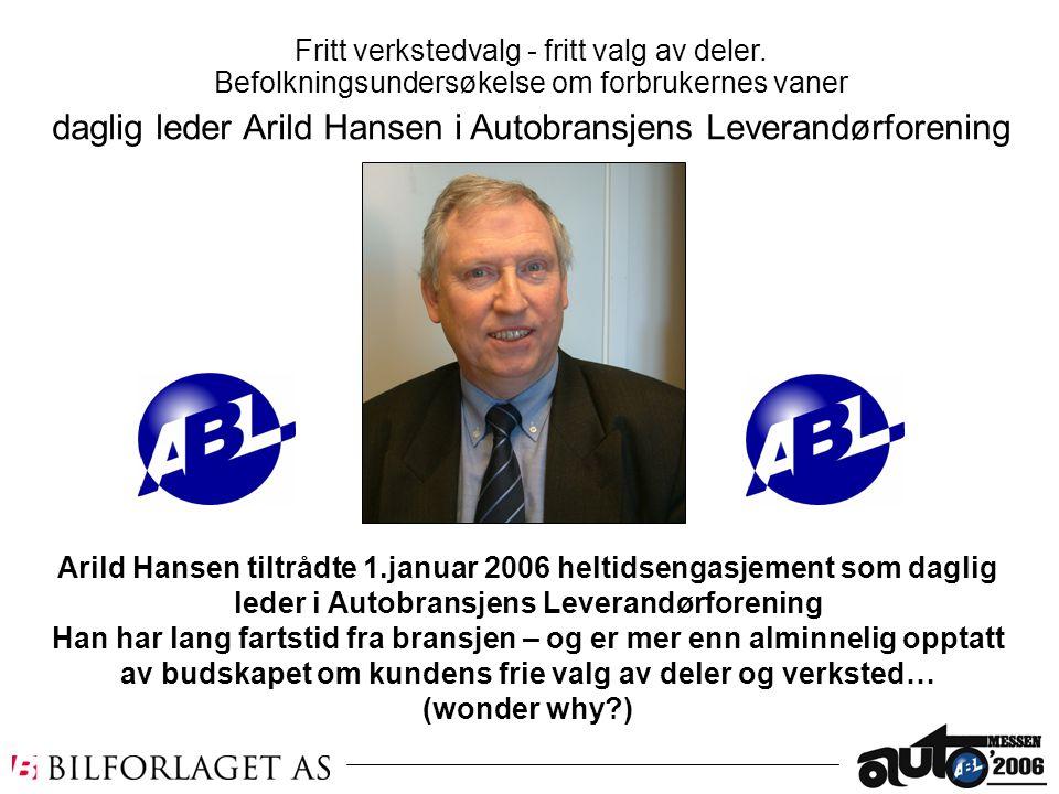 daglig leder Arild Hansen i Autobransjens Leverandørforening