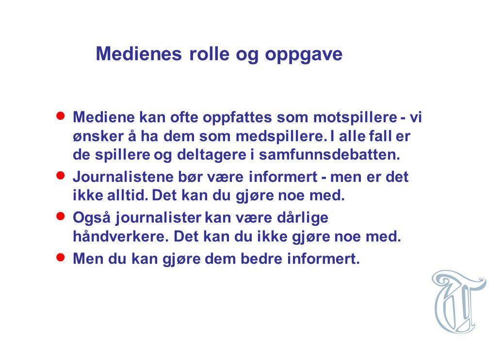 Medienes rolle og oppgave