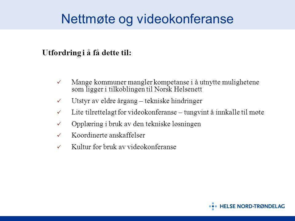 Nettmøte og videokonferanse