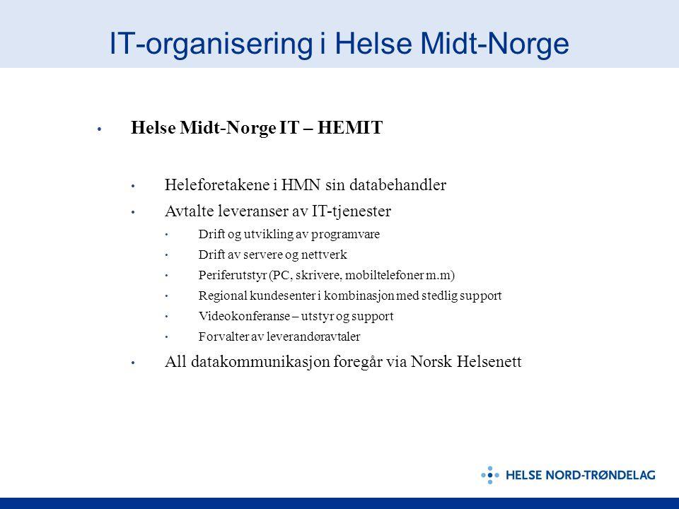 IT-organisering i Helse Midt-Norge