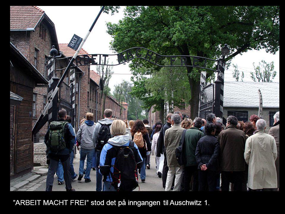 ARBEIT MACHT FREI stod det på inngangen til Auschwitz 1.