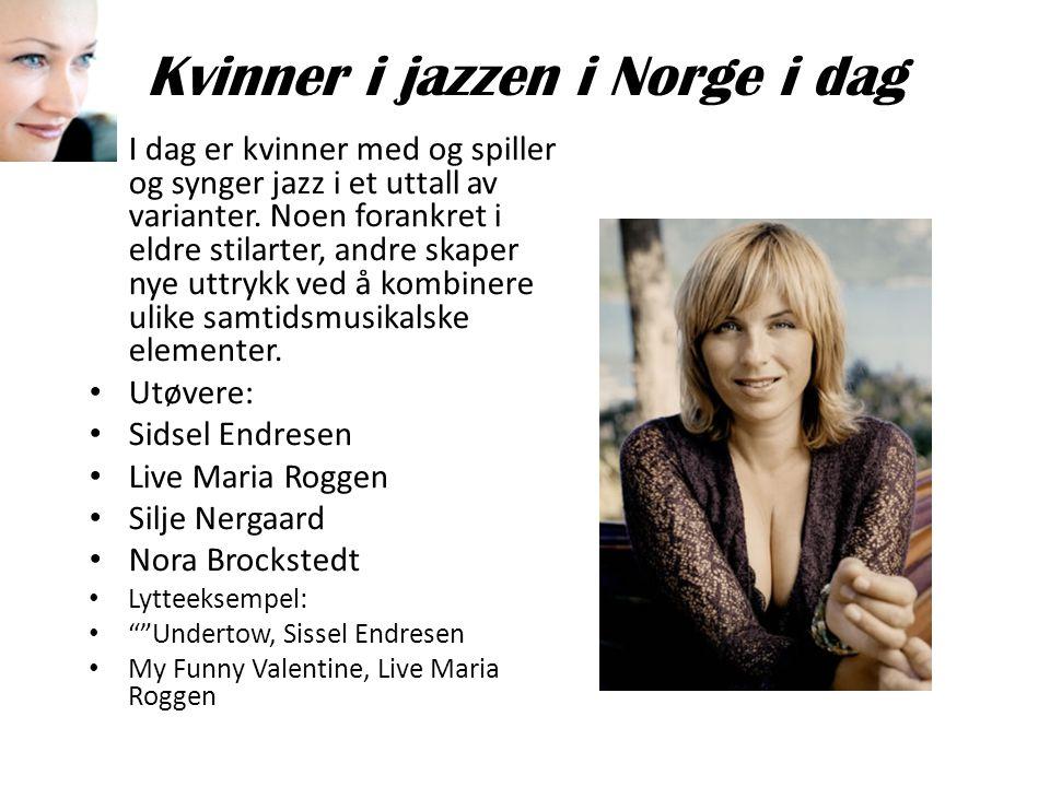 Kvinner i jazzen i Norge i dag