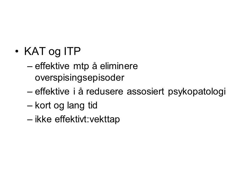 KAT og ITP effektive mtp å eliminere overspisingsepisoder