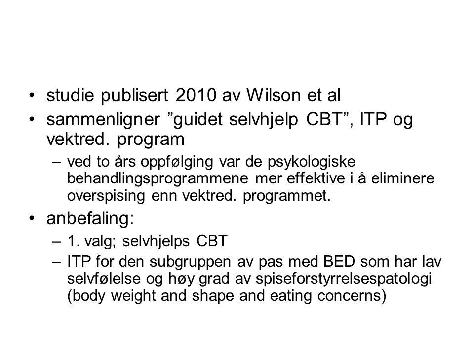studie publisert 2010 av Wilson et al
