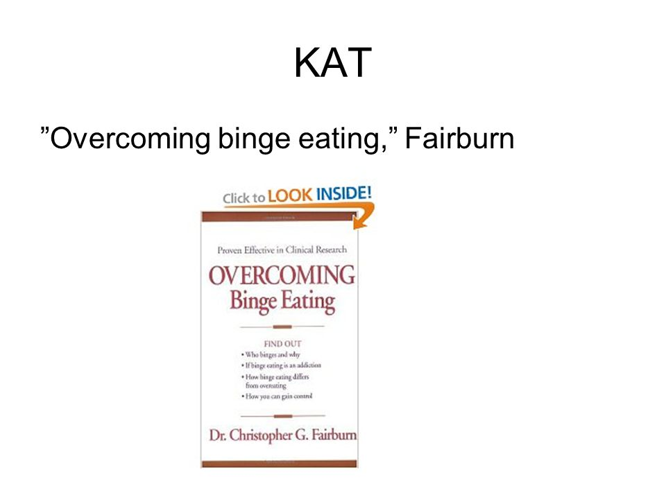 KAT Overcoming binge eating, Fairburn