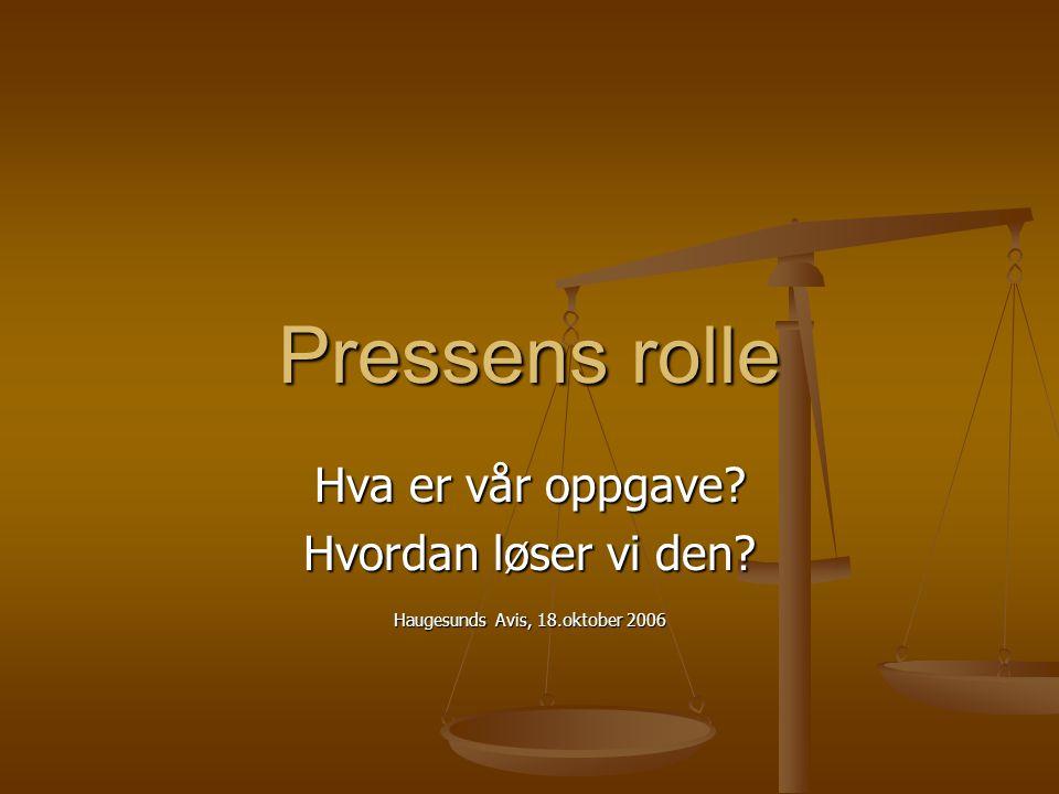 Haugesunds Avis, 18.oktober 2006