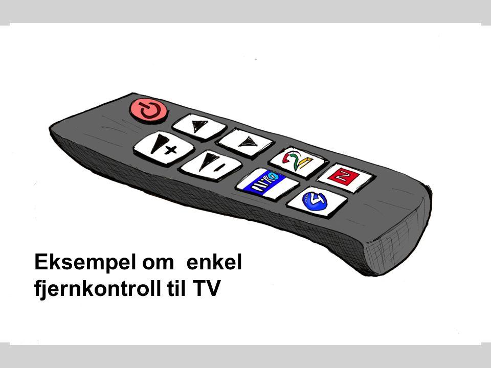 Eksempel om enkel fjernkontroll til TV