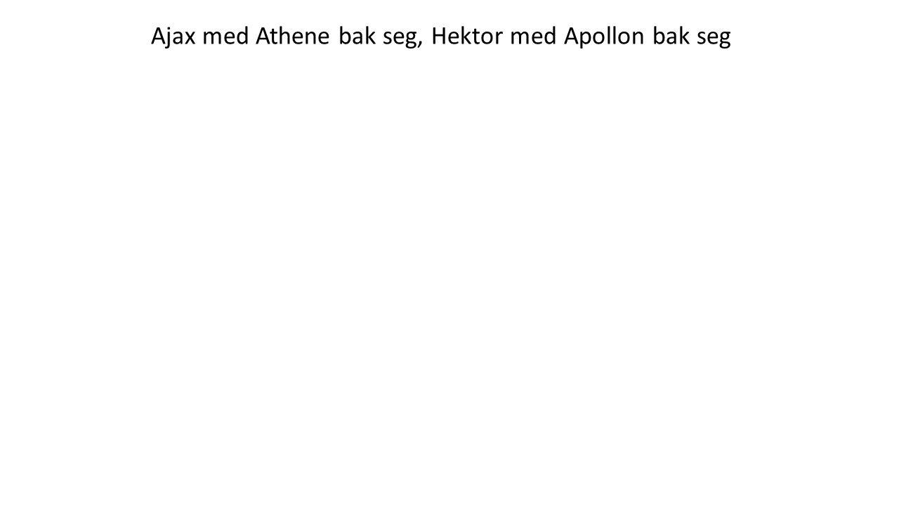 Ajax med Athene bak seg, Hektor med Apollon bak seg