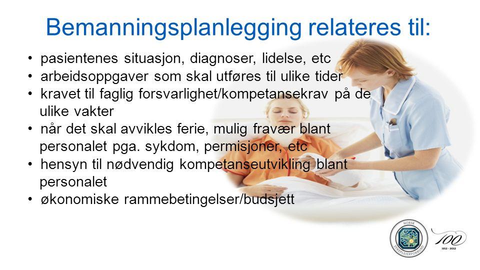 Bemanningsplanlegging relateres til: