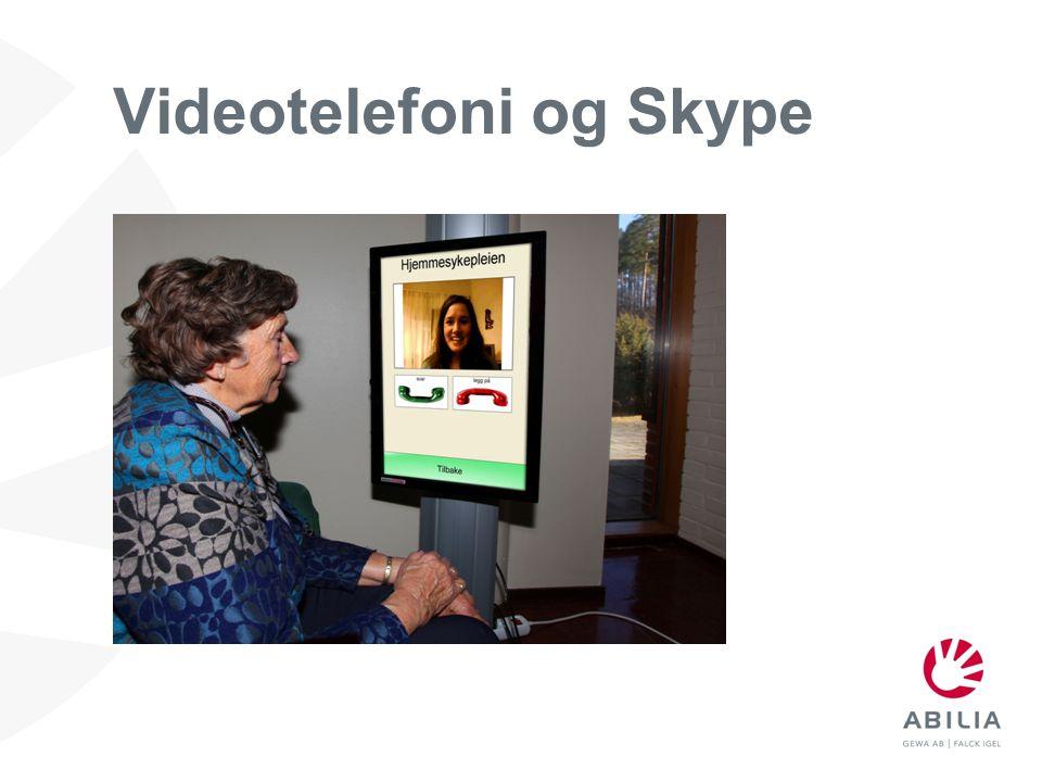 Videotelefoni og Skype