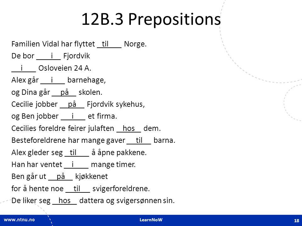 12B.3 Prepositions
