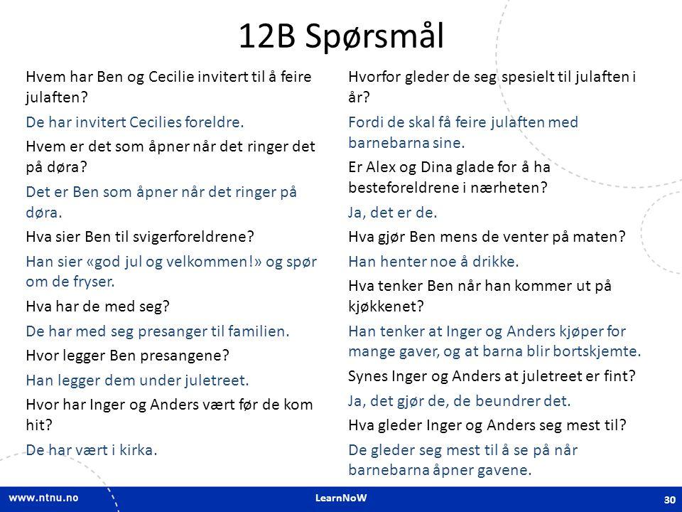 12B Spørsmål