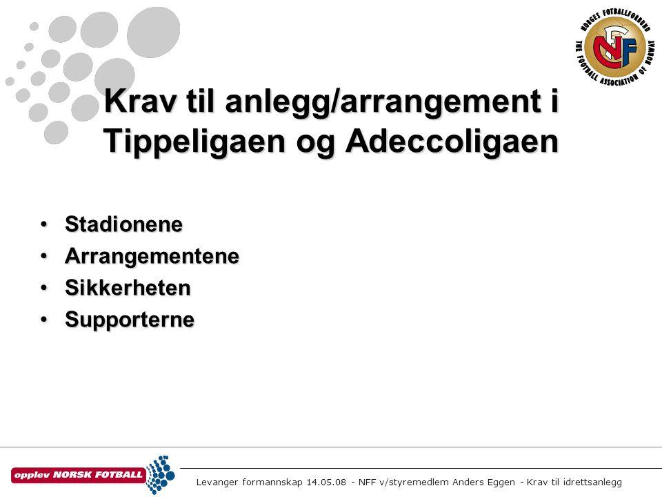 Krav til anlegg/arrangement i Tippeligaen og Adeccoligaen