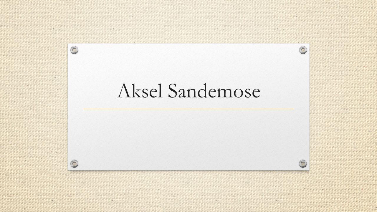 Aksel Sandemose