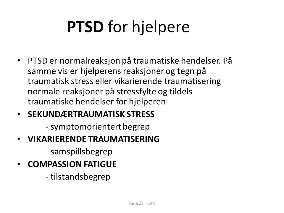 PTSD for hjelpere