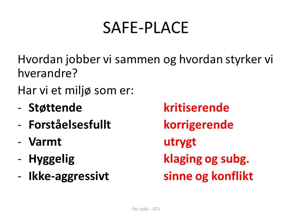 SAFE-PLACE Hvordan jobber vi sammen og hvordan styrker vi hverandre
