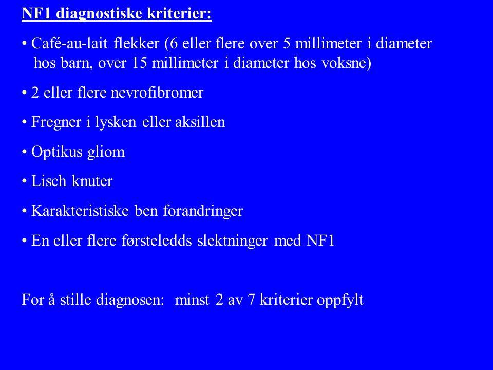 NF1 diagnostiske kriterier: