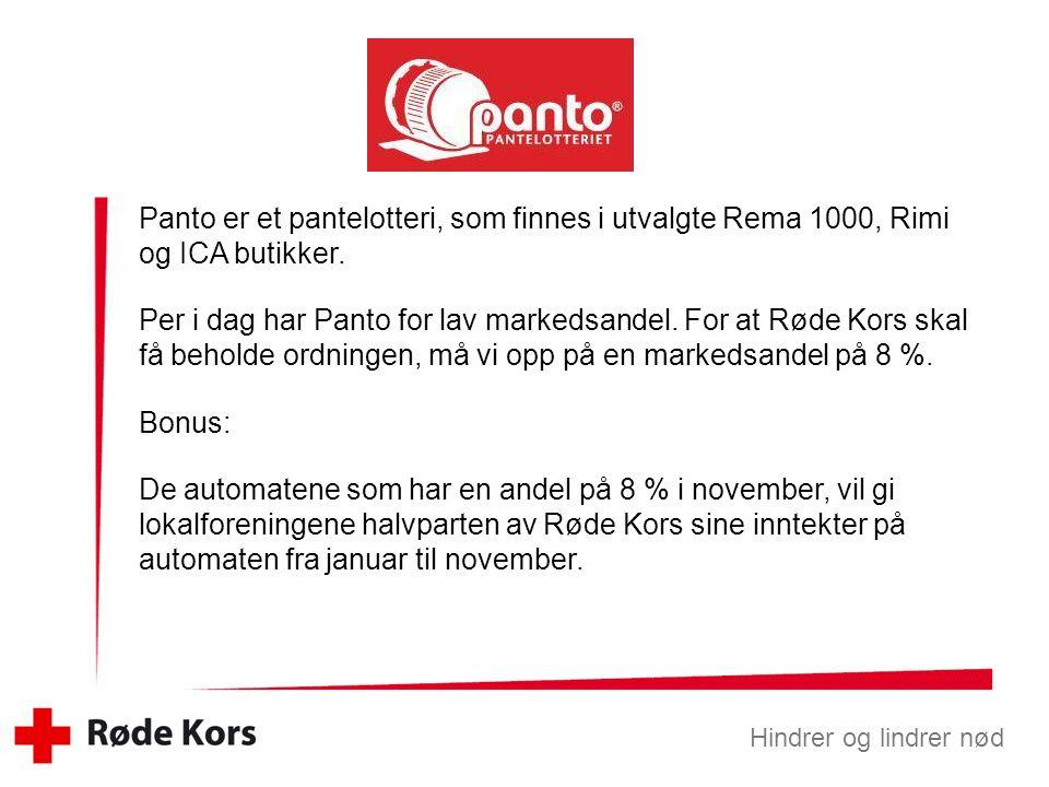 Panto er et pantelotteri, som finnes i utvalgte Rema 1000, Rimi og ICA butikker.