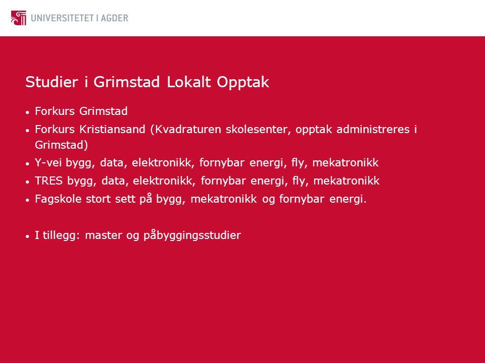 Studier i Grimstad Lokalt Opptak
