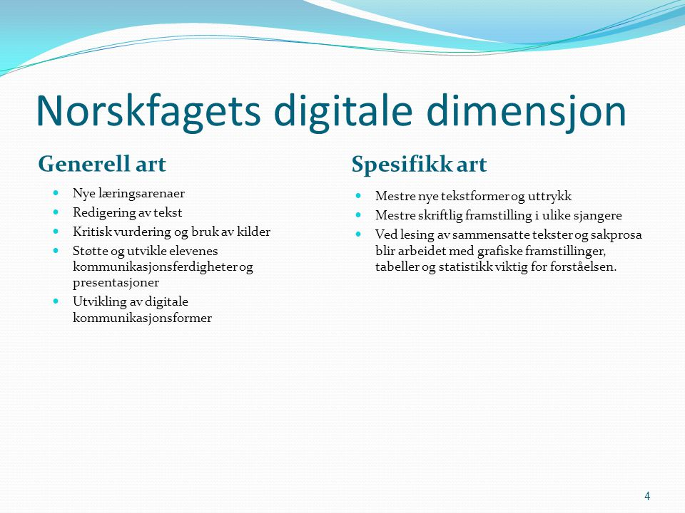 Norskfagets digitale dimensjon