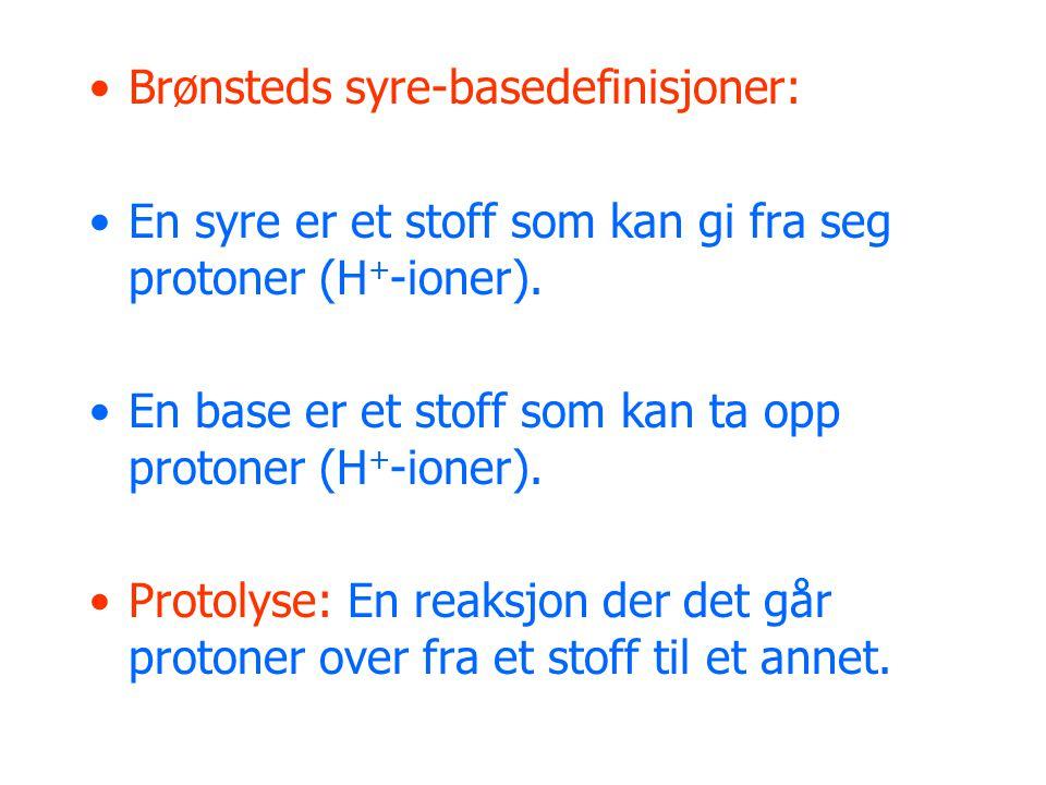 Brønsteds syre-basedefinisjoner: