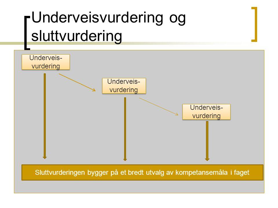 Underveisvurdering og sluttvurdering
