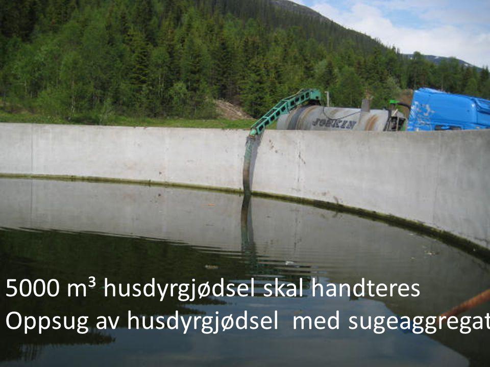 5000 m³ husdyrgjødsel skal handteres
